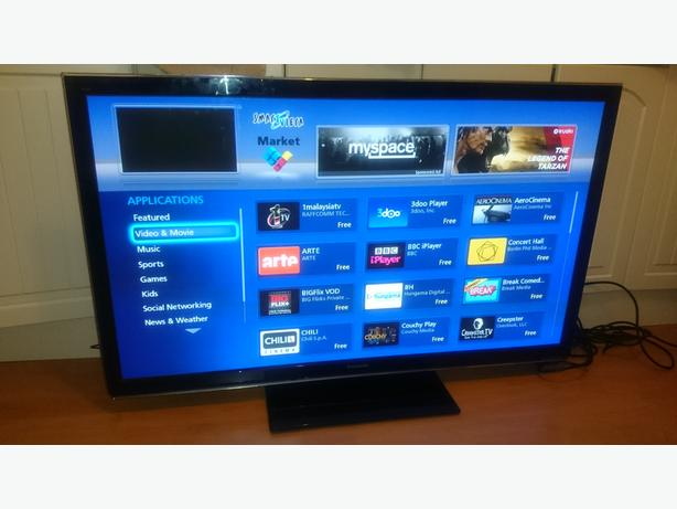 panasonic 50 inch 3d hdready smart tv with apps dlna and freeview hd dudley dudley. Black Bedroom Furniture Sets. Home Design Ideas