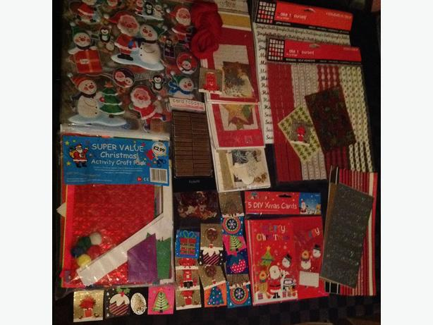 NEW JOB LOT CHRISTMAS CRAFTS. CARD KITS. STICKERS & MORE