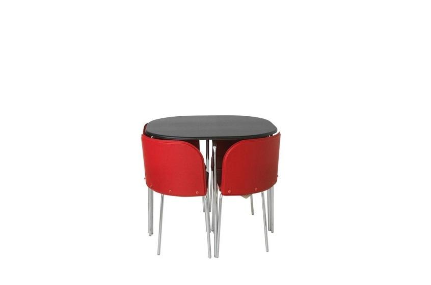 Hygena Amparo Dining Table and 4 Chairs BlackRed  : 106212396934 from www.useddudley.co.uk size 846 x 561 jpeg 15kB