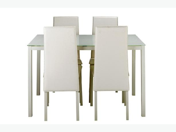 Hygena Lido Glass Dining Table And 4 Chairs White WALSALL Wolverhampton