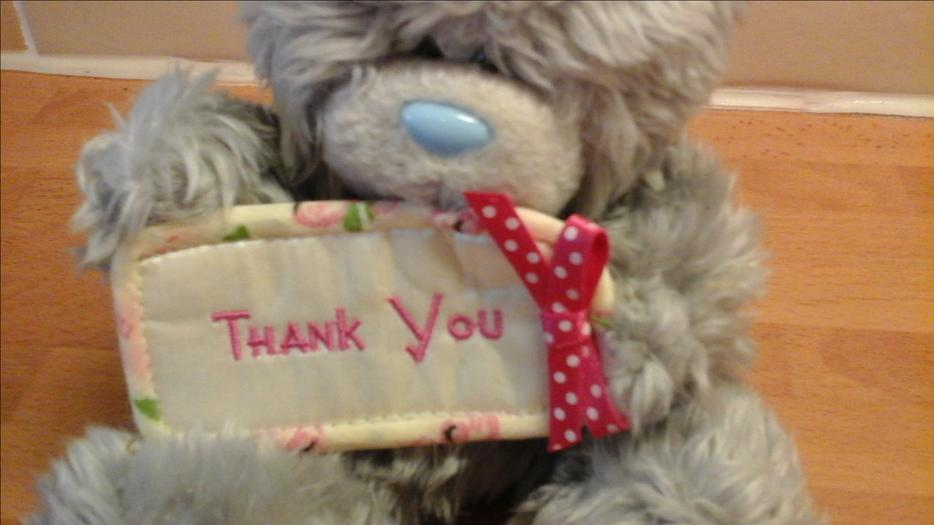 Me To You Blue Nose Thank You Bear And Brown Bear