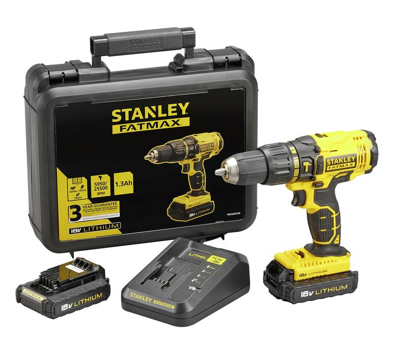 new stanley fatmax 18v cordless drill with 2 batteries west bromwich dudley. Black Bedroom Furniture Sets. Home Design Ideas