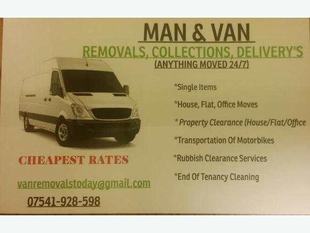 MAN & VAN HIRE REMOVALS  (LARGE VAN)