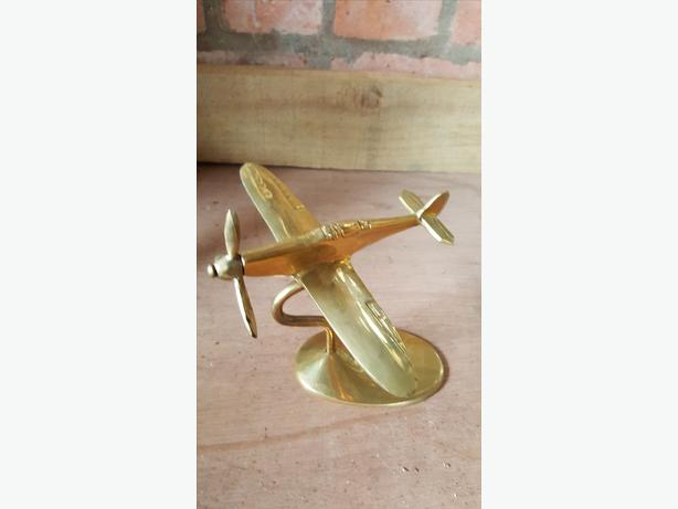 Brass WWll Spitfire  desk ornament