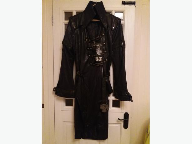 New With Tags Faux Leather Gothic/Steampunk Long Coat Fancy Dress XL Size