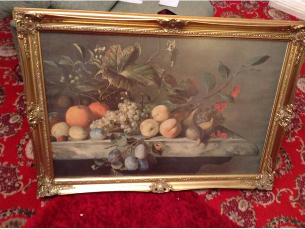 Gold Frame Fruits Picture