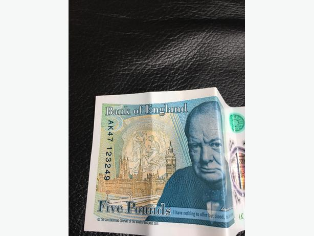 new 5 pounds note Ak47