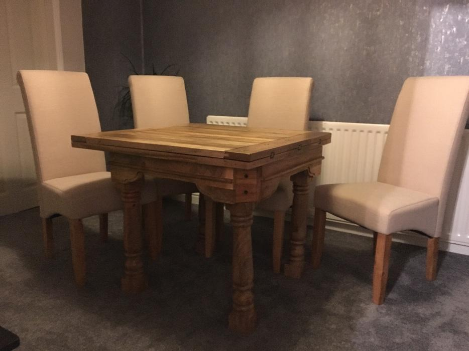 solid oak dining set extending table and 4 chairs stourbridge dudley