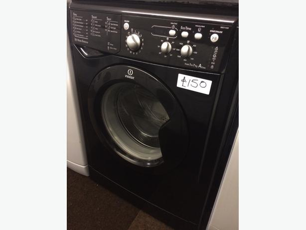 black 1 7kg indesit washing machine wolverhampton. Black Bedroom Furniture Sets. Home Design Ideas