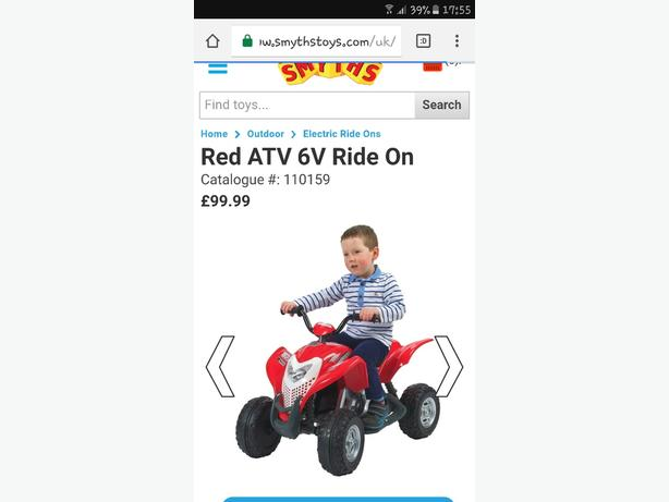 kids 6v quad bike