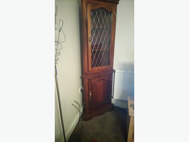 mahogany corner unit