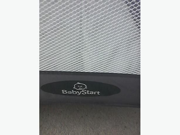 BabyStart Travel Cot - Grey and Green + mattres