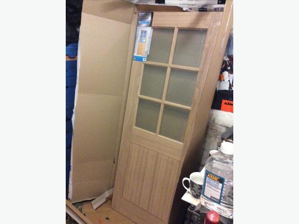 Oak glazed door