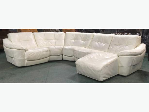£3000 DFS Zara Large Cream Leather Modular Corner Sofa WE