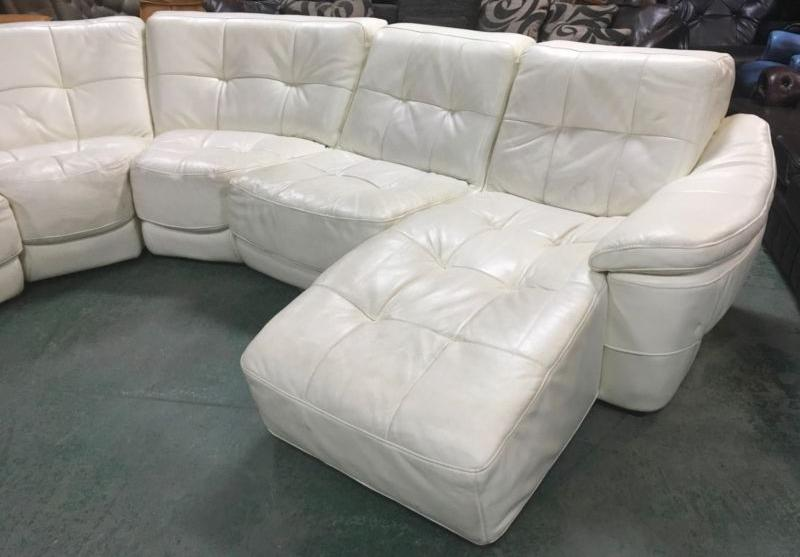 1633000 DFS Zara Large Cream leather Modular Corner Sofa WE  : 106274243934 from www.usedwalsall.co.uk size 800 x 557 jpeg 43kB