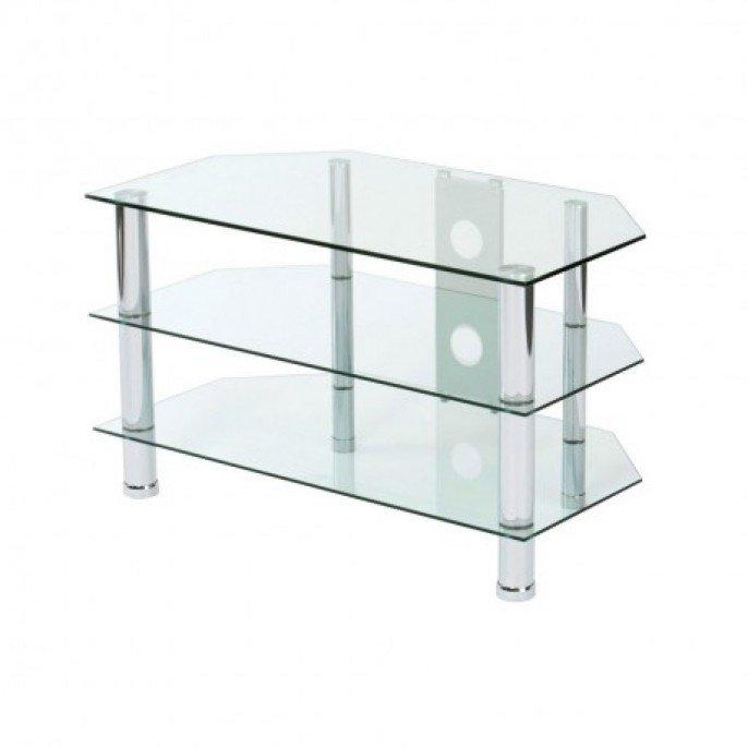 glass tv stand coseley sandwell. Black Bedroom Furniture Sets. Home Design Ideas