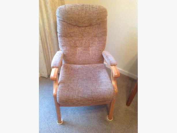 Upright chair wednesfield dudley for Comfortable chairs for seniors