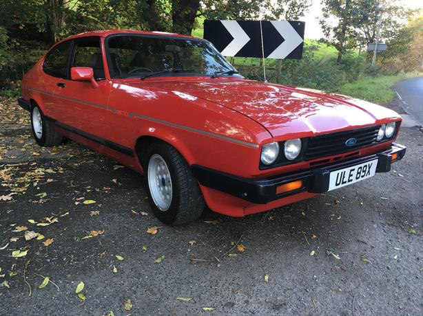 1982 FORD CAPRI 2.8i INJECTION RED