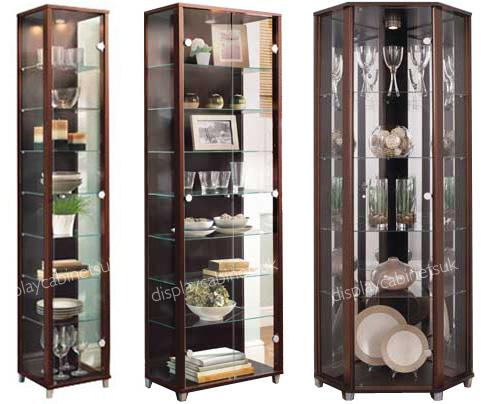Home Wenge Amp Glass Display Cabinets Single Double Or