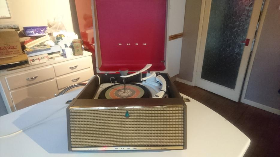 Vintage 1960s Bush Vinyl Record Player Garrard Deck