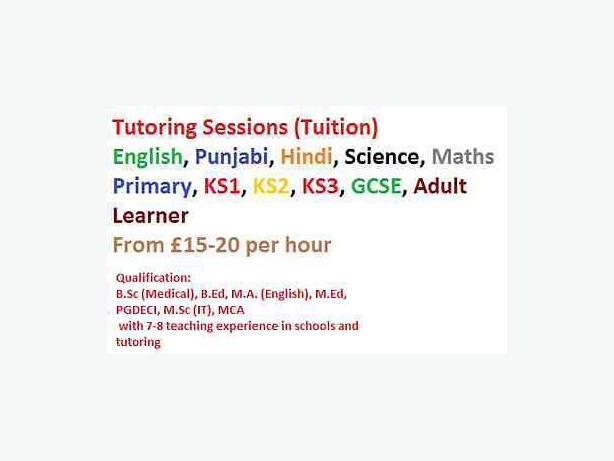  Log In needed £20 · Tuition Punjabi Hindi, English, Maths, Science, IT,  11+
