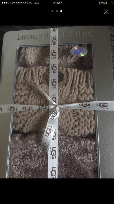 ugg hat and scarf set selfridges