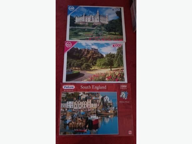 x3 1,000 piece jigsaw puzzles £1.50each only