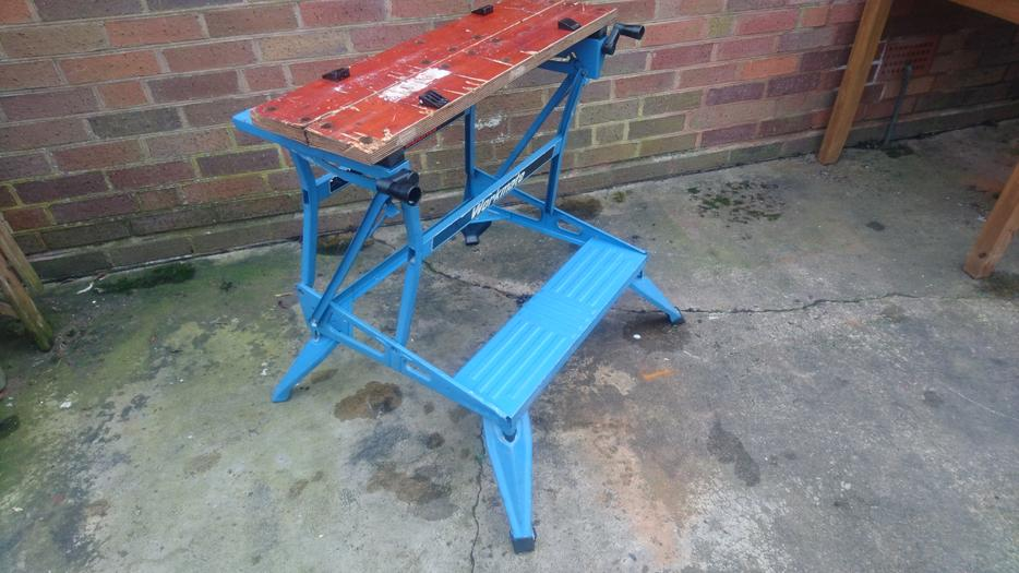 Vintage Diy Black And Decker Workmate Work Bench 2 Height Old Tool Stourbridge Dudley Mobile