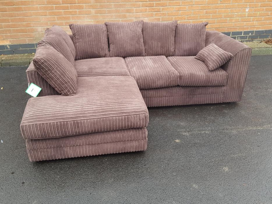 brand new brown cord corner sofa can deliver sandwell dudley. Black Bedroom Furniture Sets. Home Design Ideas