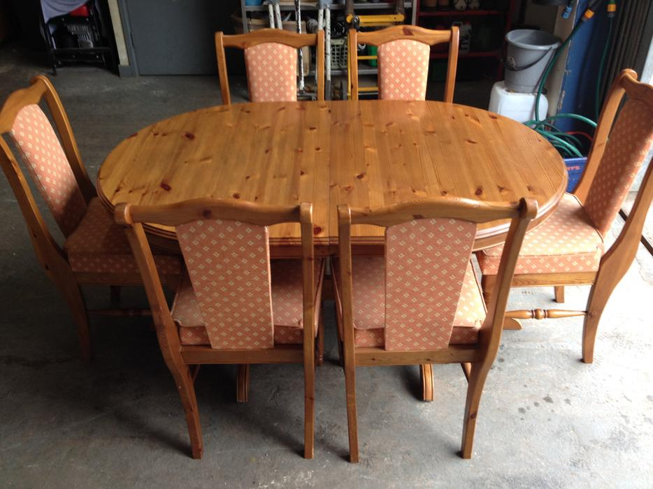 solid pine extending dining table 6 chairs may deliver
