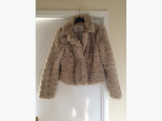 Beige / cream  fur coat