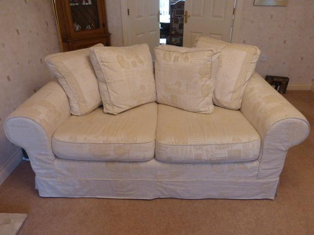 2 seater settee sofa cream removable washable covers for Couches with removable and washable cushions