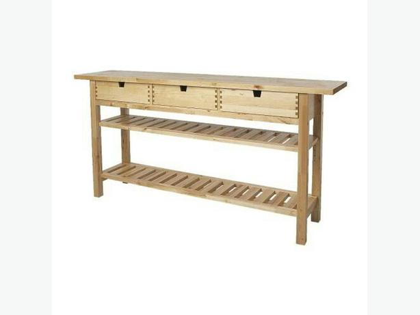 ikea norden solid wood sideboard workbench sedgley dudley. Black Bedroom Furniture Sets. Home Design Ideas