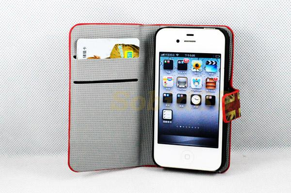 light on iphone apple iphone 4 4s 4g 4gs uk flag skin card wallet flip 1874