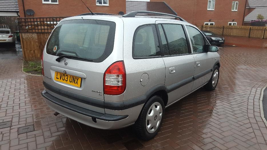 vauxhall zafira 2003 facelift 1 8 eco tec mint dudley dudley. Black Bedroom Furniture Sets. Home Design Ideas