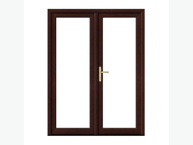 Rosewood upvc french doors 1200mm x 2100mm with glass for Upvc french doors 1200 x 2100