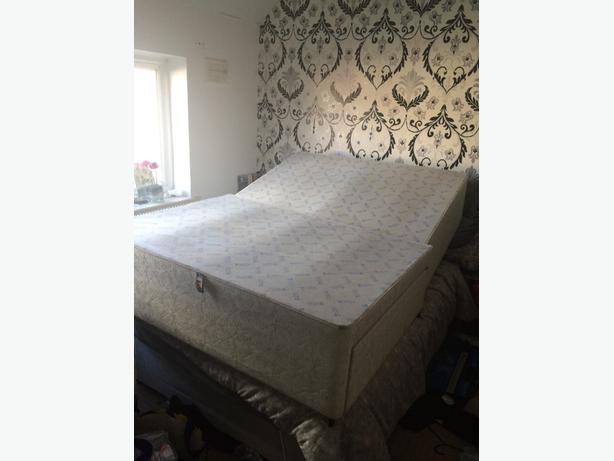 Double divan bed base with 2 drawers wolverhampton for Double divan base and mattress