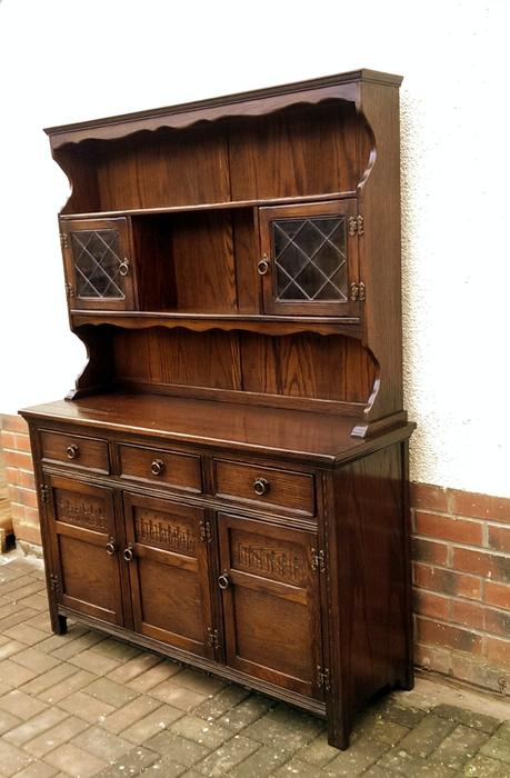 Welsh Dresser Solid Oak Old Charm Sideboard Dudley Walsall Mobile