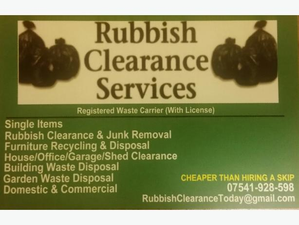 FOR TRADE: : **RUBBISH CLEARANCE SERVICES **