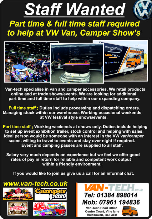 Van Tech Are Recruiting For 2017 Stourbridge Dudley