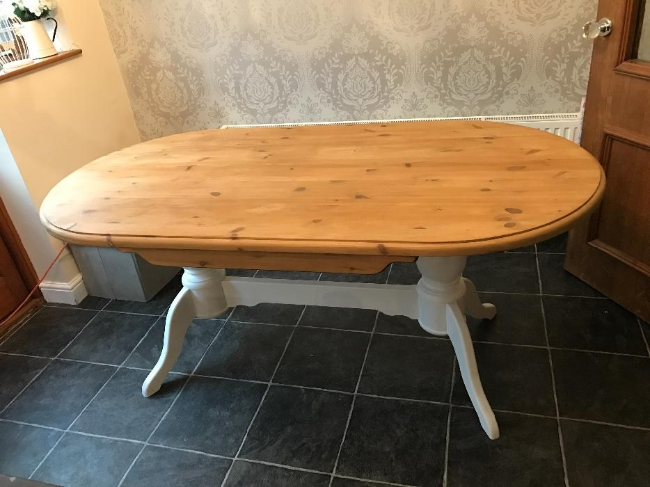 Shabby Chic Solid Chunky Farmhouse Dining Table Bilston