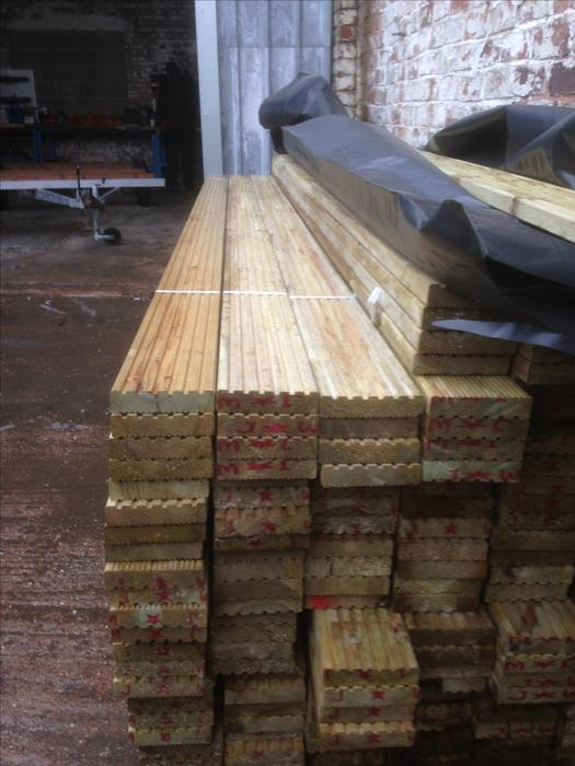 Breand new decking boards tanalised tipton dudley for Tanalised decking boards