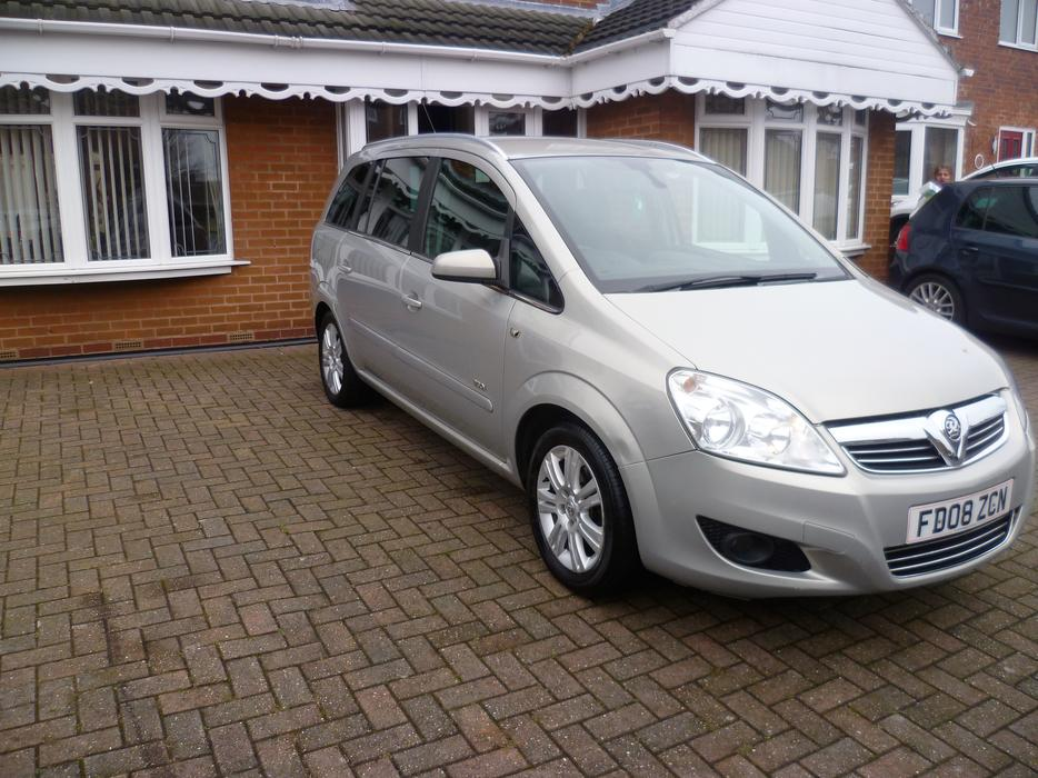 cheap 2008 vauxhall zafira 1 8 i 16v design 7 seater mpv low miles fsh west bromwich dudley. Black Bedroom Furniture Sets. Home Design Ideas