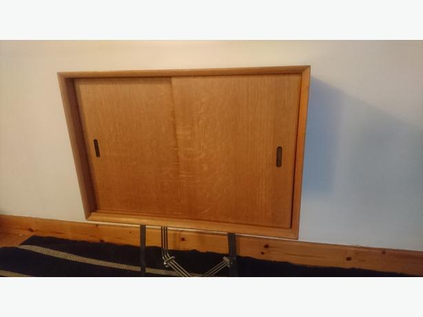 Vintage 1960 70s Light Wood Sliding Doors Lps Vinyl Record