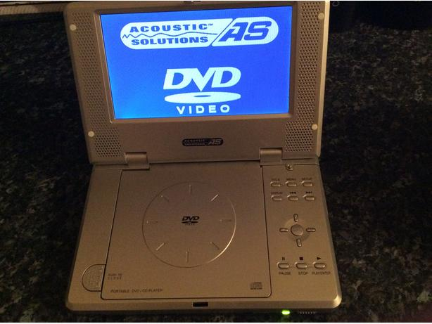 Acoustic solution portable DVD player