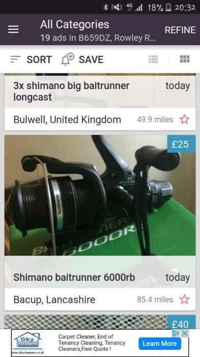 Shimano baitrunner 6000 re rowley regis dudley for Tap tap fish corgi
