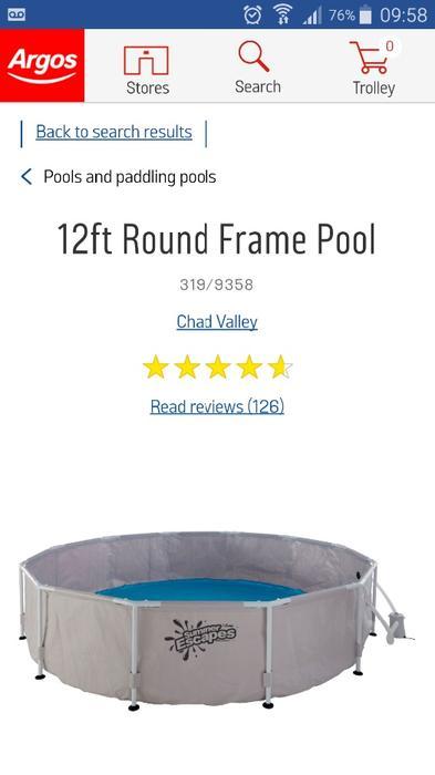 12 Foot Swimming Pool Sandwell Wolverhampton