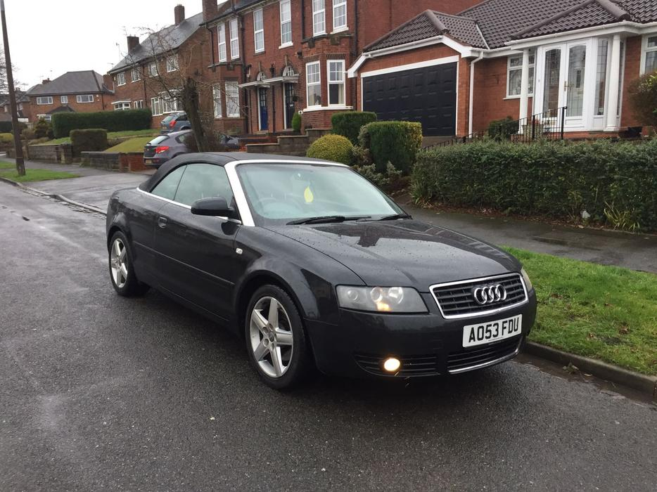 audi a4 1 8 turbo sport convertible 2003 black halesowen sandwell. Black Bedroom Furniture Sets. Home Design Ideas