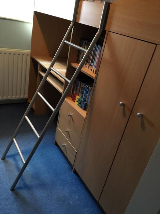 Cabin Bed With Desk And Wardrobe Dudley Wolverhampton