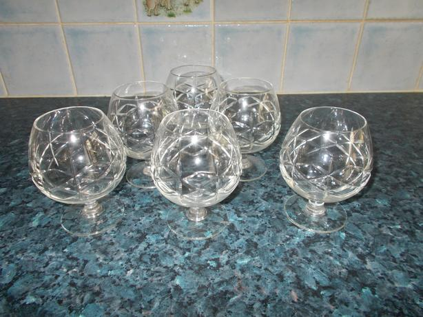 6 brandy glasses